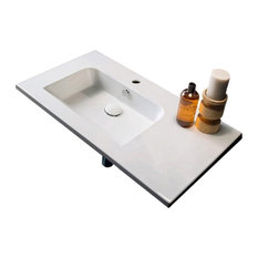 Ceramic Wall Mounted With Counter Space, One Hole