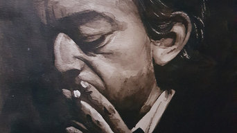 Portraits aquarelle Gainsbourg