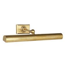 E. F. Chapman Cabinet Maker 2 Light Picture Light, Hand-Rubbed Antique Brass
