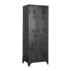 Texas Metal Locker Cabinet, Black