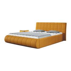 Modern Platform Bed Elisse, European Queen Size