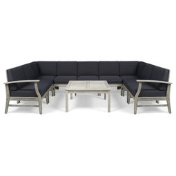 Farmhouse Outdoor Lounge Sets by GDFStudio