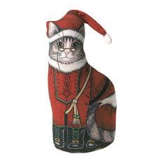 Santa Kitty Door Stop