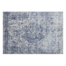 """Transitional Blue and Stone 7'10""""x10'10"""" Area Rug"""