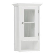 Acadian White Bathroom Wall Cabinet, Single Door