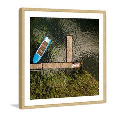 """""""Blue Boat"""" Framed Print by Karolis Janulis"""