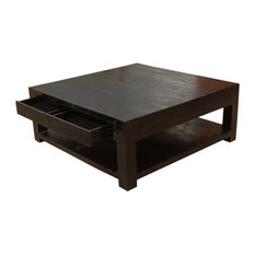 Awesome Sierra Living Concepts   Contemporary Solid Wood Square Espresso Coffee  Table   Coffee Tables