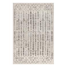 Ziri Moroccan Geometric Cream/Gray 8' x 10' Area Rug