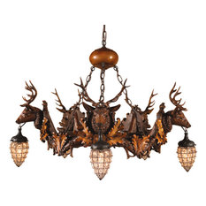 Stag And Globe Chandelier