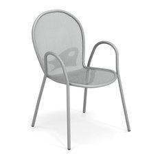 Emu Ronda Steel Outdoor Dining Armchair, Set of 4, Antique Black