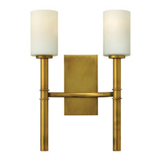 Hinkley Margeaux Sconce 2-Light Sconce, Vintage Brass
