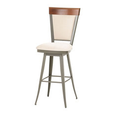 ARTeFAC Traditional High Back Swivel Stool Bar Height Bar Stools And