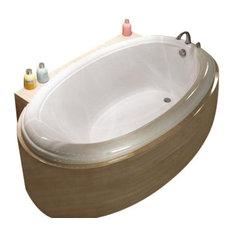 Atlantis Tubs 3660P Petite 36x60x23 Inch Oval Soaking Bathtub