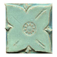"Medieval Floral Tiles, 4""x4"", Copper Patina"