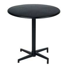 """Oxton 30"""" Round Folding Table in Matte Black"""