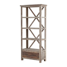 Upcycled Wood Tall Bookcase