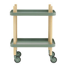 Normann Copenhagen Block Table, Dusty Green