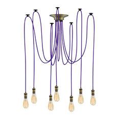 Purple And Bronze Pendant Light Chandelier