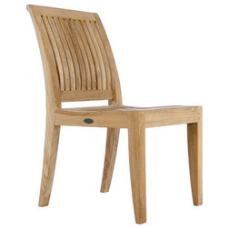 Transitional Outdoor Dining Chairs by Westminster Teak