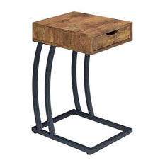 Coaster Home Furnishings   Coaster Accent Table With Power Strip, Antique  Nutmeg   Side Tables