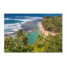 Pierre Leclerc 'Tropical Paradise' Canvas Art, 24x16