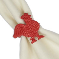 Design Imports Red Rooster Napkin Ring