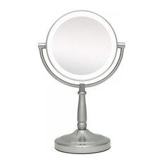 Zadro   Next Generation LED Vanity Mirror, Satin Nickel   Makeup Mirrors
