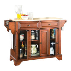 Crosley Kitchen Cart With Wood Top Interesting Crosley Natural - Crosley kitchen island cart natural wood top