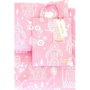Palace Garden Pink Bedding Set, Pram, 70x80 cm