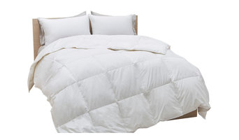 700 Fill Power White Goose Down Cotton Sateen Comforter, King, Summer Weight