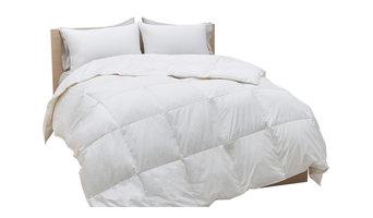 700 Fill Power White Goose Down Cotton Sateen Comforter, King, Summer Weight