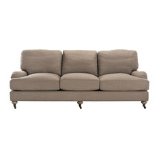 Calvin Natural Linen Sofa, Loft Gray