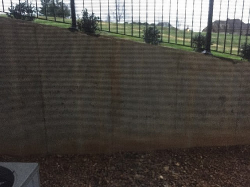Cement Retaining Wall