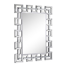 "Modern 48"" Contemporary Mirror by Elegant, Clear Finish"