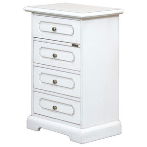 San Antonio Traditional Bedside Table, White