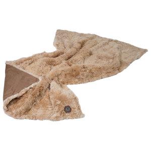 Luis Alpaca Fur Blanket, Champagne, 120x180 cm
