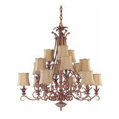 Coral Reef 15Light Chandelier With Shades