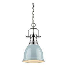 """Golden Lighting 3602-S-CH Duncan Single Light 9"""" Wide Mini Pendant"""