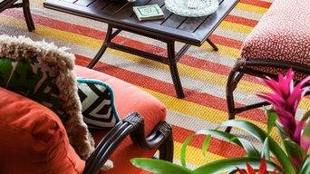 100 % Vinyl Indoor/Outdoor Rug, Custom Colors, PB, FL