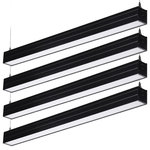 TORCHSTAR - 4' Dimmable LED Suspension Linear Light, UL Listed, 4-Pack, Black - The ultra-bright 4600lm output of this linear light with 144pcs built-in LED chips in it will light up every dark corner in your room. This fixture is the ideal choice for both commercial applications in areas like warehouses, storehouses, classrooms, stores or supermarkets and residential applications like living rooms, dining rooms, kitchens and studies.