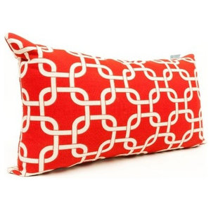 Red Links Small Pillow 12x20