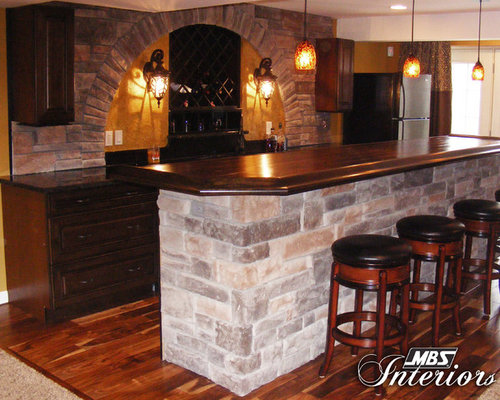 stone arch basement bar. Black Bedroom Furniture Sets. Home Design Ideas