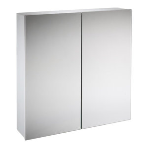Baltic White Mirrored Cabinet, Double