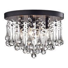 50 most popular contemporary flush mount ceiling lights for 2018 houzz wellyer scelene 4 light flush mount black flush mount ceiling lighting aloadofball Gallery