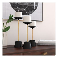 Percy 3-Piece Metal Candle Holders