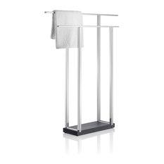 Blomus   Blomus Menoto Towel Stand, Double, Polished   Towel Racks U0026 Stands