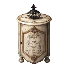 Butler Specialty Company - Butler Drum Table, Gilted Cream - Side Tables and End Tables