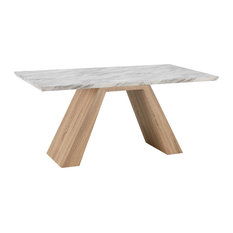 Ahty Oak and Cement Dining Table