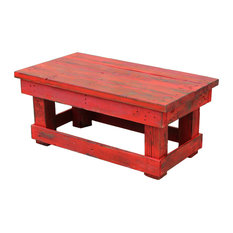 Joyce Reclaimed Coffee Table Red Coffee Tables