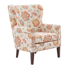 Madison Park Colette Wood Chair, Cream